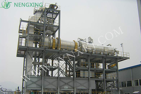 Waste tire refining project