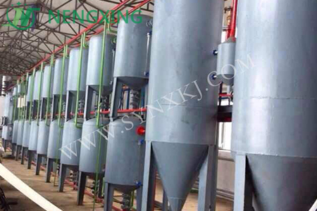 Waste oil refining project
